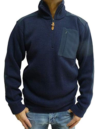 CMP Herren Pullover Zip Reißverschluss Man Knitted Navy M982 Grösse 48