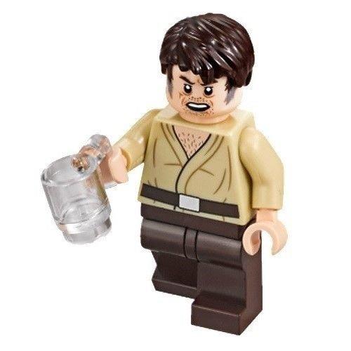 LEGO Star Wars Mos Eisley Cantina Minifigura – Wuher Bartender con taza (75205)