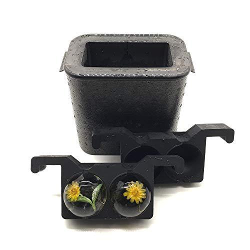 Kristallklarer-Eiskugel-Ersteller, Jumbo-Eisbälle, Whisky-Form, mit 5,1 x 6 cm Kugel-Kapazität