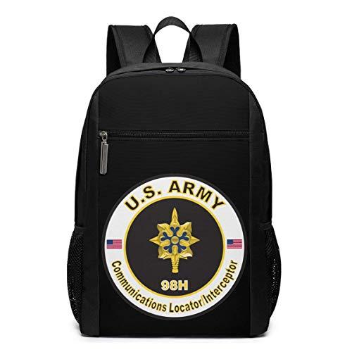BGKO Us Army Mos 98h Communications Locatorinterceptor Mochila Multifuncional Duradera de 17 Pulgadas