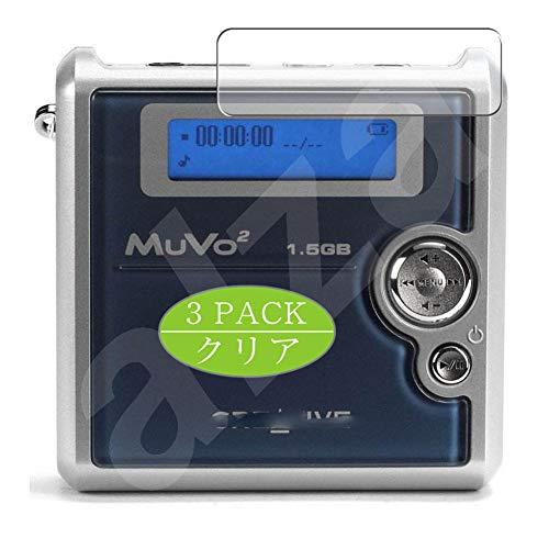 VacFun Lot de 3 Clair Film de Protection d'écran, Compatible avec Creative Nomad MuVo2 / MuVo 2, Film Protecteur sans Bulles(Non vitre Verre trempé)