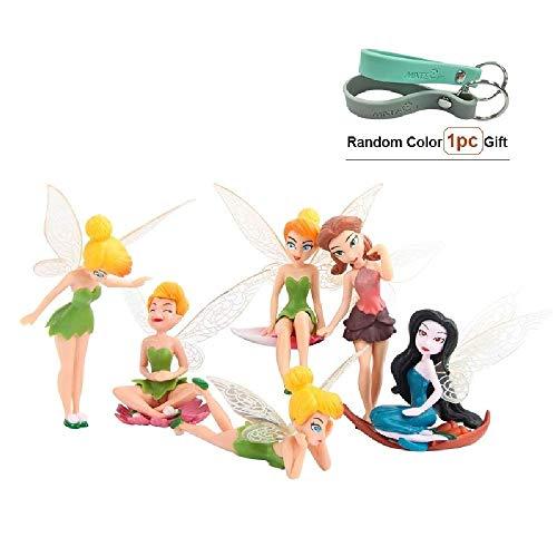 MateCam Feen-Figuren, verschiedene Miniatur-Figuren mit Blumen, Garten, Blumentopf, Puppenhaus-Dekoration, 6Stück