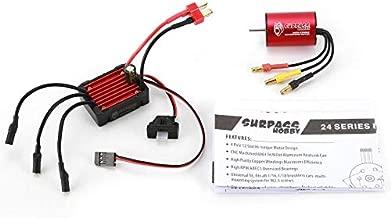 Shemiqi SURPASSHOBBY KK 2435 3300KV Brushless Motor 25A ESC for 2S 1:16 1:18 RC Car (Black & Red)