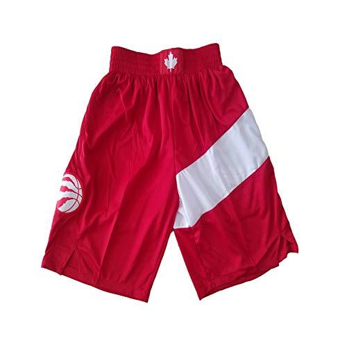 FGRGH Pantalones Cortos de Baloncesto de los Hombres para RǎPTÓRS, Pantalones Cortos de Baloncesto atlético de los Hombres Malla de Malla, Tela de poliéster recompensa Pan M
