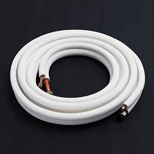 1//2 pulgadas doble conducto de refrigeraci/ón. 1//4 Cable de cobre de 3 m