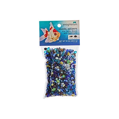 Petco Brand - Imagitarium Blue Azure Pebble Glass Aquarium Gravel Accent Mix, 10 oz.