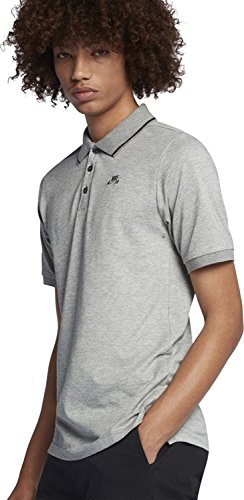 Nike SB DRY POLO PIQUE TIP SS 827602-064_S - DK GREY HEATHER/ANTRACITE