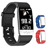 GREATDEALS Multi-Function SmartWatch Displays Body Temperature, Oxygen (O2) Saturation Level, Heart Rate and Blood Pressure. Plus a Fitness Tracker and Sleep Monitor. Suitable for Adults and Children.
