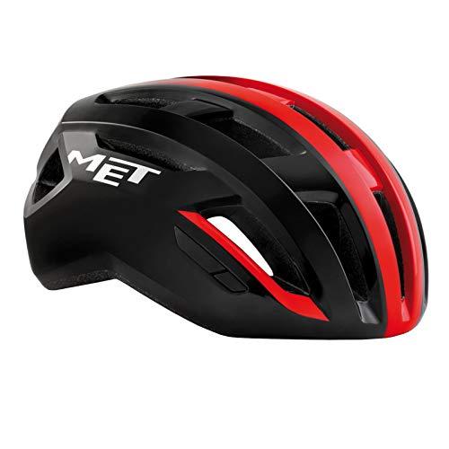 MET Casco Ciclismo Vinci MIPS Colore Nero sfumato Rosso (M 56/58)