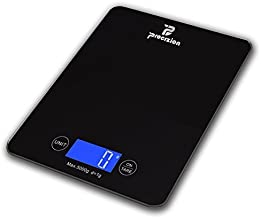 Digital Touch Multifunction Kitchen Food Scale for Precise Weighing in Grams, Ounces, Pounds, Fluid Oz, Milliliters Measures up to 11lb/5kg Best Gift for Weight Watchers (Black)