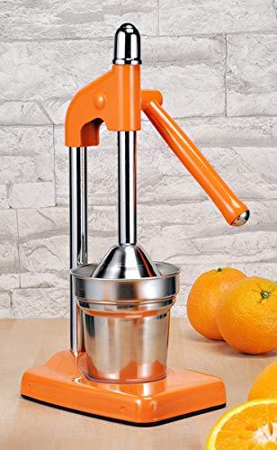 Haushalt International Hebelziturspresse - mechanische Hebel-Zitruspresse Saftpresse für Orangen Limetten und Zitronen ORANGE 12067