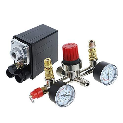 HIGHER MEN Duraderos Interruptor de Control de presión de compresor de Aire de Servicio Pesado regulador + Controlador de válvulas Calidad Confiable