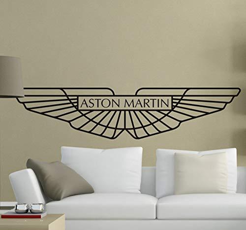 pegatina de pared pegatina de pared 3d Aston Martin Logo etiqueta de la pared para el dormitorio sala de estar chicos dormitorio
