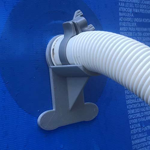 Rohrhalter für Schwimmbecken, Grau, für Rohre 30 mm bis 37 mm, passend für Intex Pools