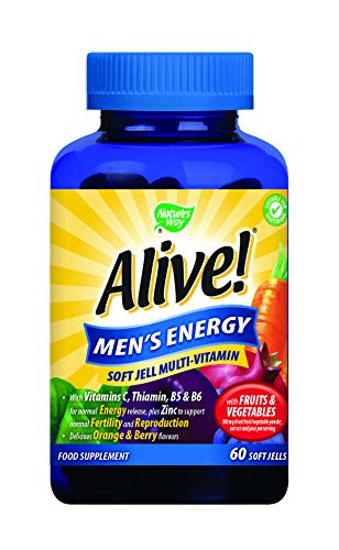 Alive! Men's Energy Soft Jell Multi-Vitamin (60 Soft Jells)