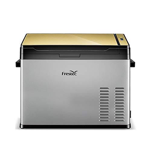 50 Litri Frigorifero Portatile Congelatore Uso Auto Frigorifero Frigo per Uso Domestico con Compressore, Dual Zone, Display LCD, -25 ° C ~ 30 ° C, 12V   24V   110V ~ 240V