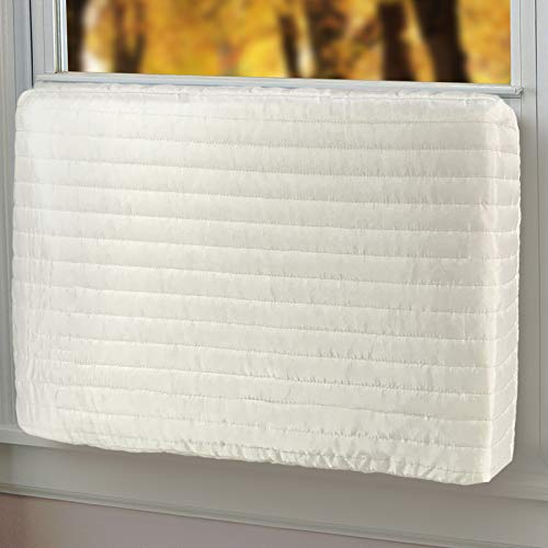 Qualward Indoor Air Conditioner Covers for Window Units, Window AC Unit Cover for Inside (21' W x 15' H x 3.5' D)