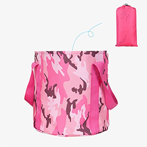 Cuidado personal Higiene y Limpieza Acampada y Senderismo Lavabo Plegable Lavabo Plegable portátil Lavabo de Viaje Cubo de baño al Aire Libre Fregadero (Color : Pink1, Size : 31 * 31 cm)