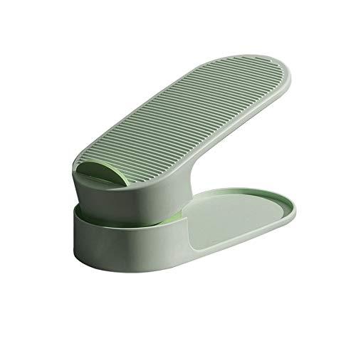 Gesh Organizador de zapatos ajustable duradero para guardar zapatos, espacio para ahorrar espacio, color verde