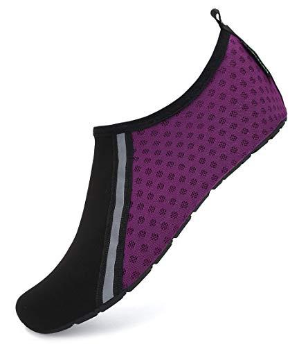 SAGUARO Escarpines Hombre Zapatillas Agua Mujer Antideslizante Secado Rápido Zapatos de Surf Escarpines Vela 031 Violeta Gr.38/39