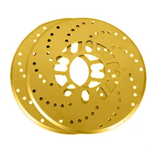 SSB-ZDHY, 2pcs / Set Auto-Aluminiumlegierung hinten Trommelblatt Radscheibe Platte Modification Abdeckung 26cm Auto-Bremsen (Color : Gold)