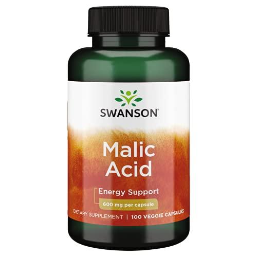 Acide malique Acide malique 600mg 100 gélules SWANSON