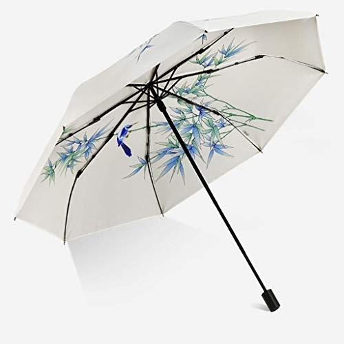 LPO Golfschirm Doppelschicht Kunststoff Regenschirm Starke Verteidigung Sonne Sonnenschutz Ultraviolett weiblich Falten tragbare Regen und Regen Regenschirm