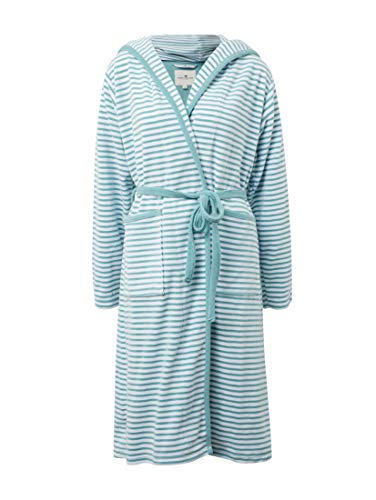 TOM TAILOR Dames Bath Gestreepte badjas met capuchon