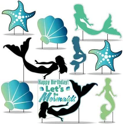 VictoryStore Denver Mall OFFicial mail order Yard Sign Outdoor Lawn Mermaid Decorations: Birthda
