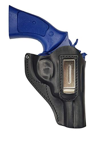 VlaMiTex IWB 13 Funda para revólver ME 38, de Piel, Negro