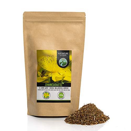 Johanniskraut Tee (250g), Geschnitten, schonend getrocknet, 100% rein und naturbelassen zur Zubereitung von Tee, Kräutertee, Johanniskrauttee