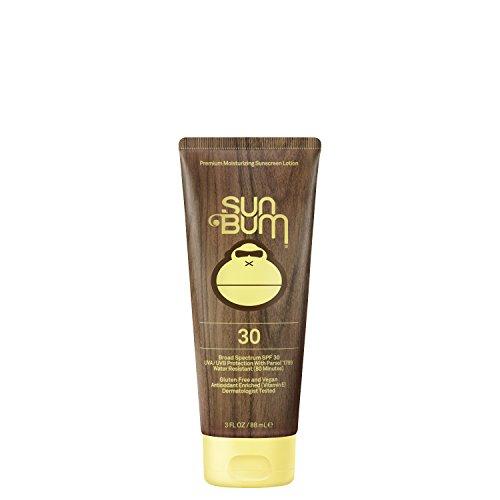 Sun Bum Original Moisturizing Sunscreen, SPF 30 Lotion, Broad Spectrum UVA/UVB, Water Resistant & Non-Greasy Protection, Hypoallergenic, Paraben Free, Gluten Free, 3 Ounce