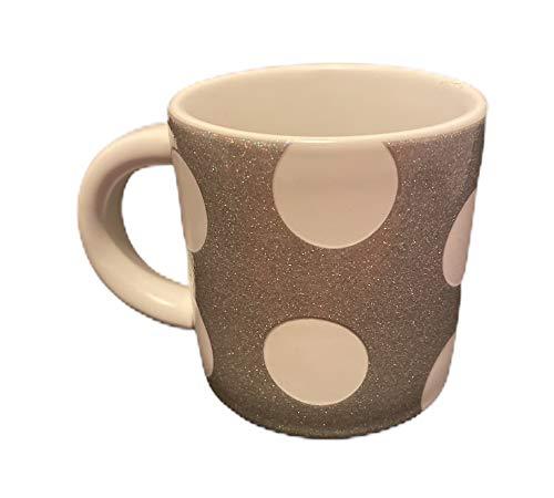 Starbucks Mini-Espresso-Tasse mit weißen Punkten, silberfarben, glitzernd, 85 ml