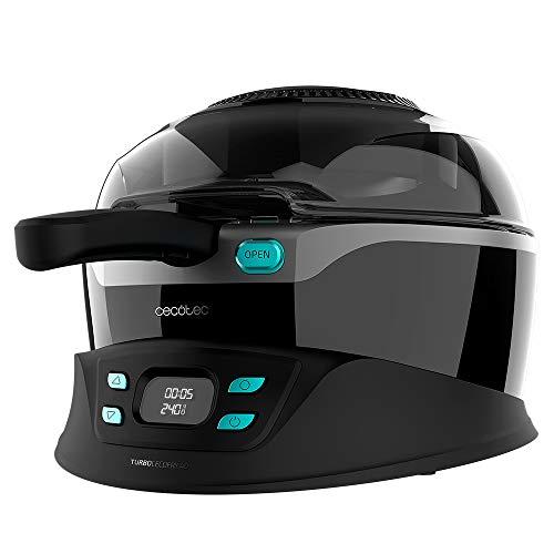 Cecotec Freidora sin aceite dietética TurboCecofry 4D Healthy. Sistema de cocción 360º, 8 Programas Preconfigurados, Temperatura ajustable, Cubeta con revestimiento Cerámico tricapa, Recetario