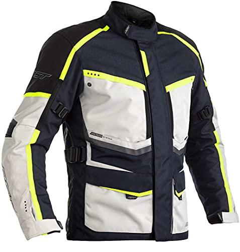 RST Maverick Motorrad Textiljacke Weiß/Schwarz/Blau 62