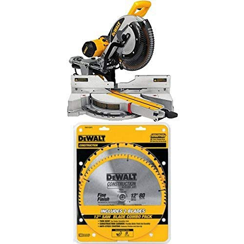 "DEWALT DWS779 12"" Sliding Compound Miter Saw and DWX726 Rolling Miter Saw Stand"