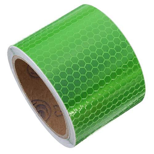 Cheng L Sicherheit Vorsicht Reflective Klebeband Warnband Aufkleber Klebeband 6 Farben 3m lang Band (Farbe : Green)