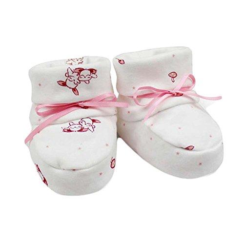 New Born Babies Chaussures en coton pour bébés Chaussures pour berceaux Soft Layer Cotton Soft Sole