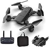 CLI Drone Drone Portable Ultra-léger avec caméra Grand Angle Longue Endurance Maintien de l'altitude Pliable RC Quadcopter HD 4K Drone de Photographie aérienne avec Sac de Rangement Noir 500 W 1080 P