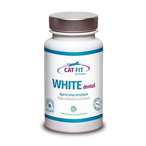 CAT FIT by PreThis® White dental | Zahnsteinentferner Katze | Zahnsteinpulver gegen Zahnstein, Zahnbelag & Zahnverfärbung | Zahnpflege & Zahnreinigung für Katzen | Plaque vorbeugen