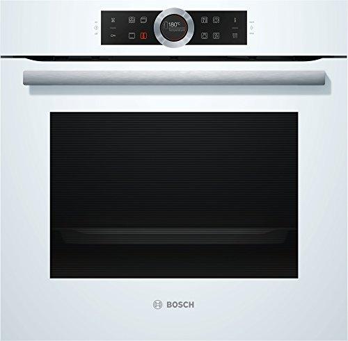 Bosch HBG675BW1 Serie 8 Einbau-Backofen / A+ / 71 L / Weiß / Klapptür / TFT-Display / 13 Beheizungsarten / AutoPilot 10 / EcoClean Direct / 4D Heißluft / Schnellaufheizung