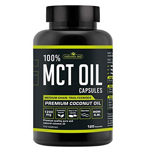 Natures Aid MCT Oil Capsules 120 Capsules 1200 mg