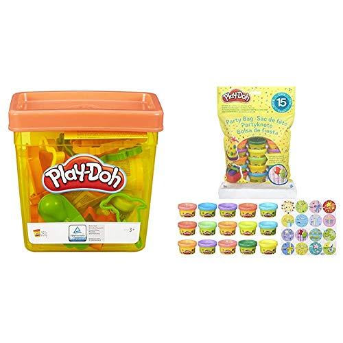 Play-Doh - Fun Tub (Hasbro, B1157EU5) + Bolsa De 15 Mini Botes (Hasbro 18367EU5) , color/modelo surtido
