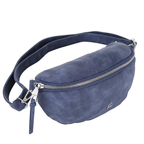 Prato Olivia Vintage Damen Bauchtasche - modische und Elegante Hüfttaschen für Frauen (Jeans Blue)