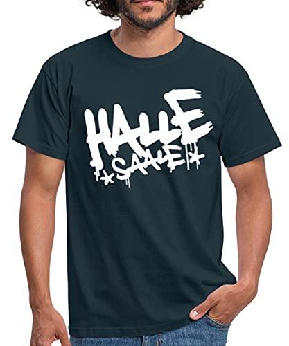 Spreadshirt Halle Saale Graffiti Style Männer T-Shirt, XL, Navy