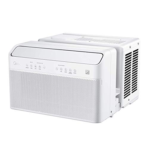 Midea U Inverter Window Air Conditioner 10,000BTU, The First U-Shaped AC with Open Window Flexibility, Robust Installation,Extreme Quiet, 35% Energy Saving, WiFi,Alexa,Remote, Bracket Included (Renewed)