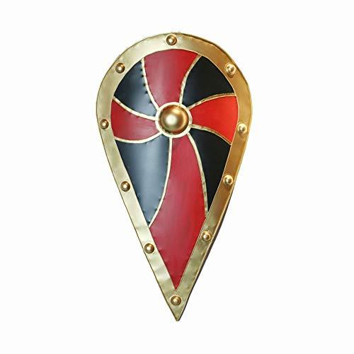 Malta Caballero decorativo Escudo Color rojo y negro Molino de viento medieval escudo de caída de la hoja laminada en frío de la pared de la placa de la pared de la pared de la pared de la decoración