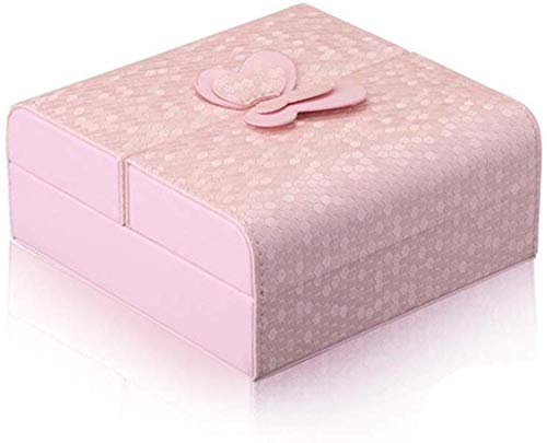 YYANG Travel Jewellery Box Jewellery Organizer Schmuckschatullen Für Damen Ringe Ohrringe Halsketten Kleine Schmuckschatulle,Pink