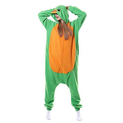 Damen Onesie Pyjama,Damen Tier Nachtwäsche Schildkröte Onesies Pyjama Grün Homewear Anime Cosplay Kostüm Für Paare Täglich Tragen Erwachsene Geschenk Urlaubspartys, M: Geeignet Für Größe Vo