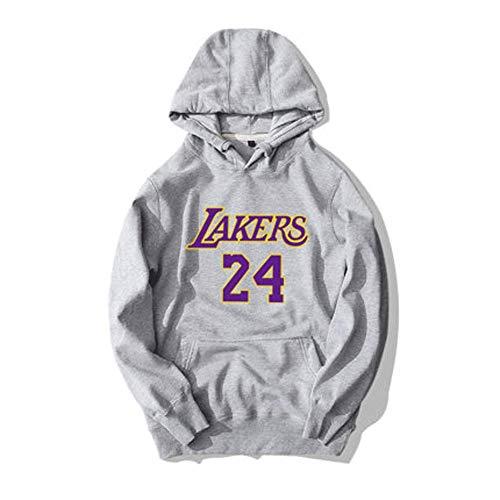 Lakers Kobe 24# Fans-Basketball-Hoodie, Sportjackenspitzenbasketball-Spieltrikot-S